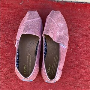 Sparkly Pink TOMS